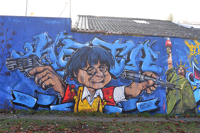 mur hommage cabu lyon