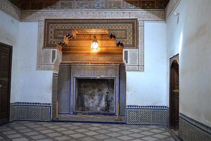 cheminée palais bahia marrakech