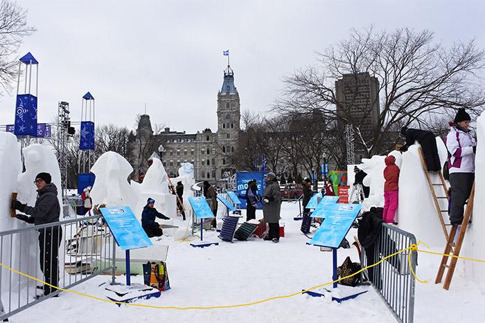sculpture neige carnaval quebec