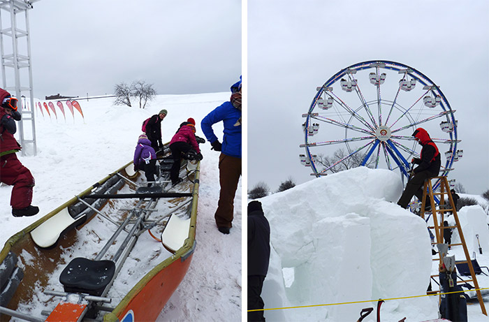 course canot carnaval quebec