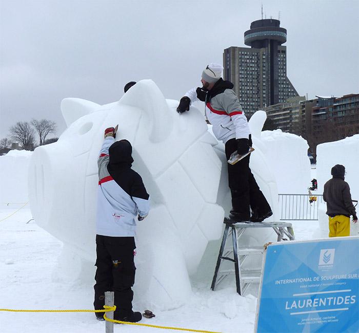 sculpture glace carnaval quebec
