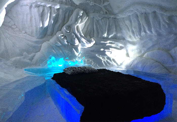 quebec chambre hotel glace