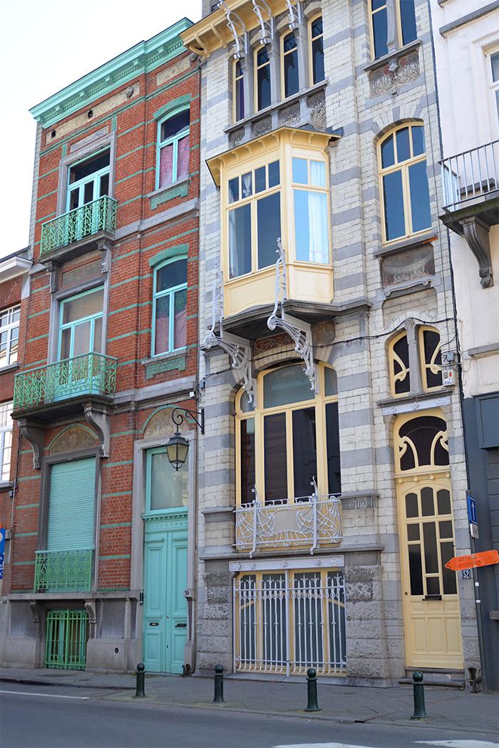 maisons art nouveau ixelles bruxelles