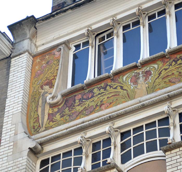 façade art nouveau ixelles