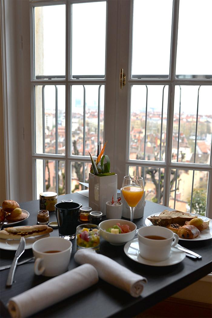 villa florentine petit déjeuner