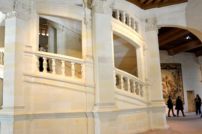 escalier chateau chambord