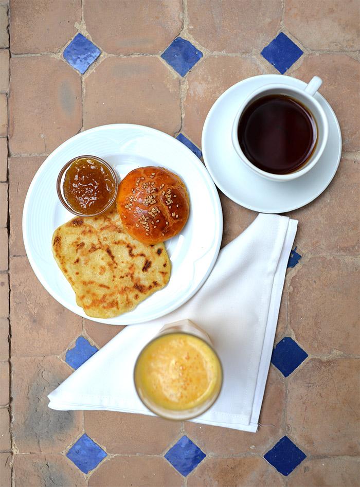 petit dejeuner jardin abdou marrakech