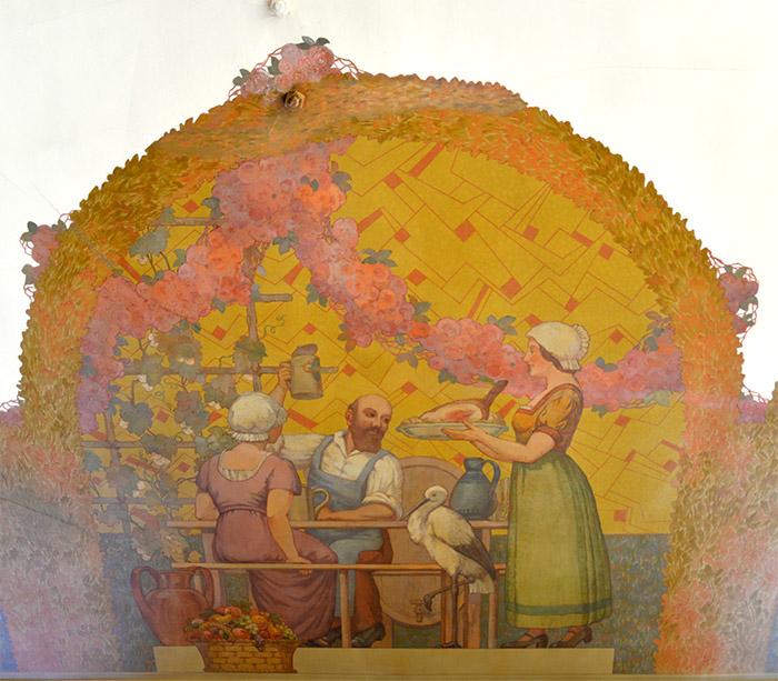fresque brasserie georges