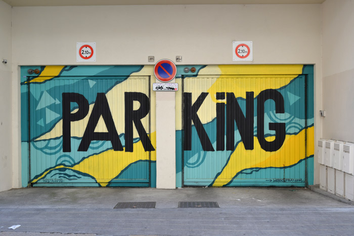 citya grenoble street art parking