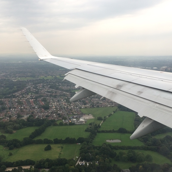 avion vue aérienne manchester
