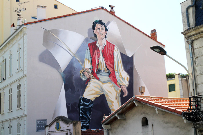 gerard philippe cannes mur peint