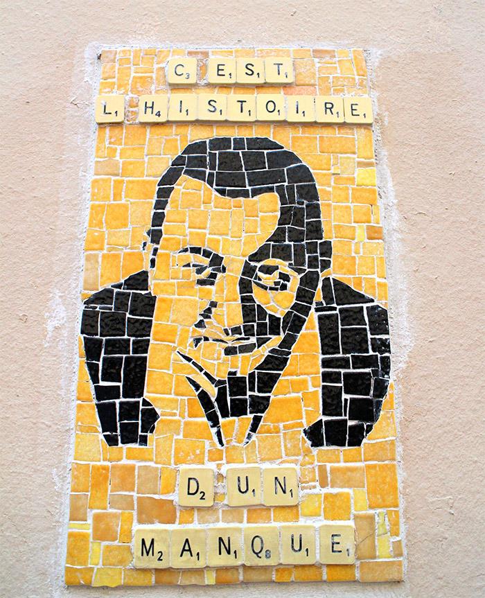 coluche street art butte cailles