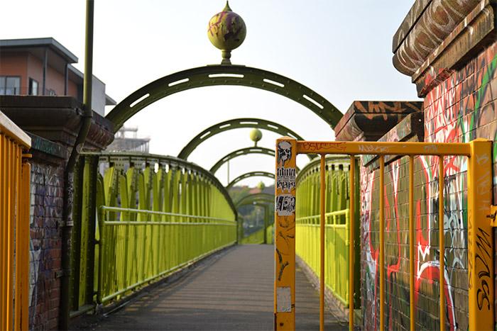 woden footbridge manchester irwell