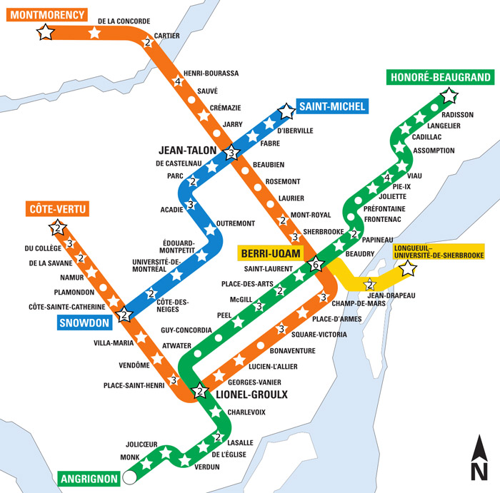art metro map montreal