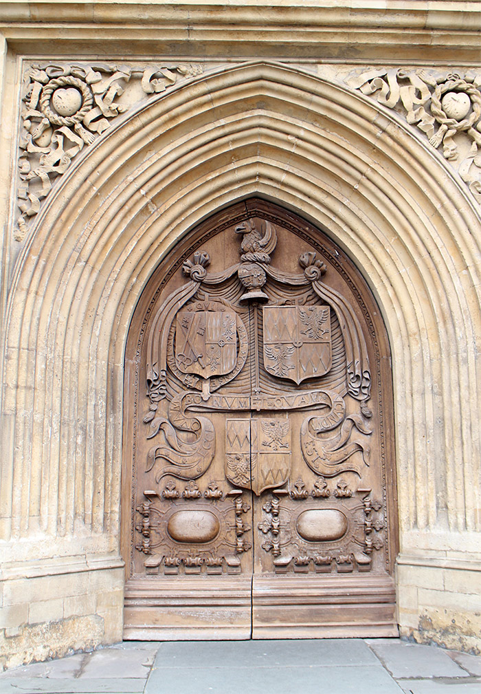 Bath Abbey porte