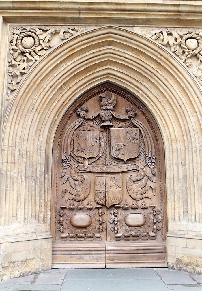 Bath Abbey porte
