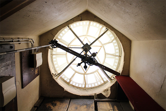 bath Abbey clock horloge