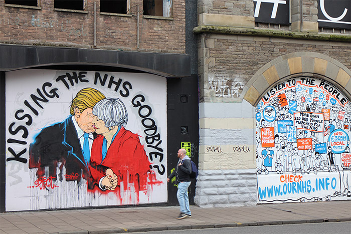 DNT Trump Theresa May kiss NHS