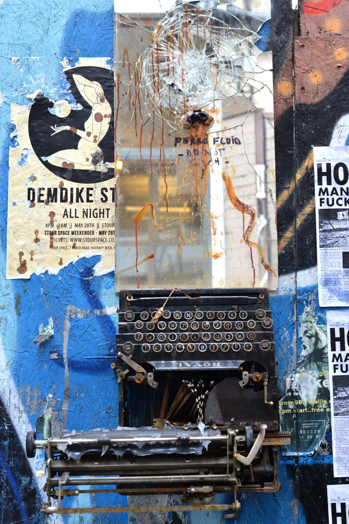 hackney wick typewriter mirror
