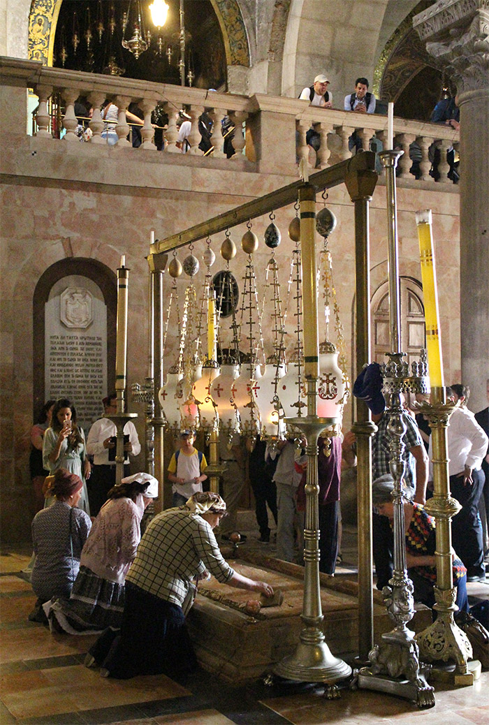 pierre onction saint sepulcre jerusalem