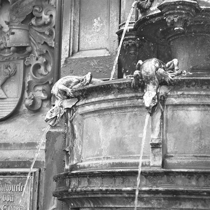allemagne Dresde fontaine