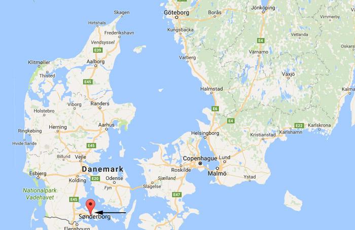 danemark sonderborg carte