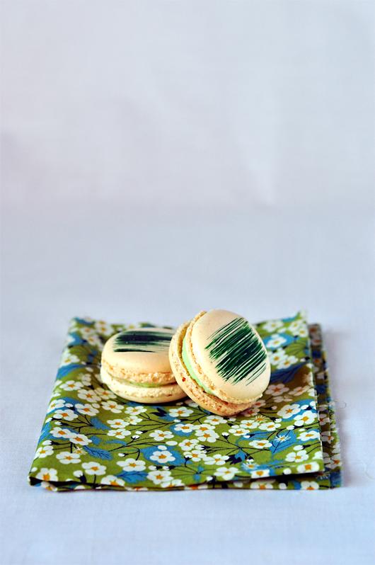 macarons wasabi gingembre