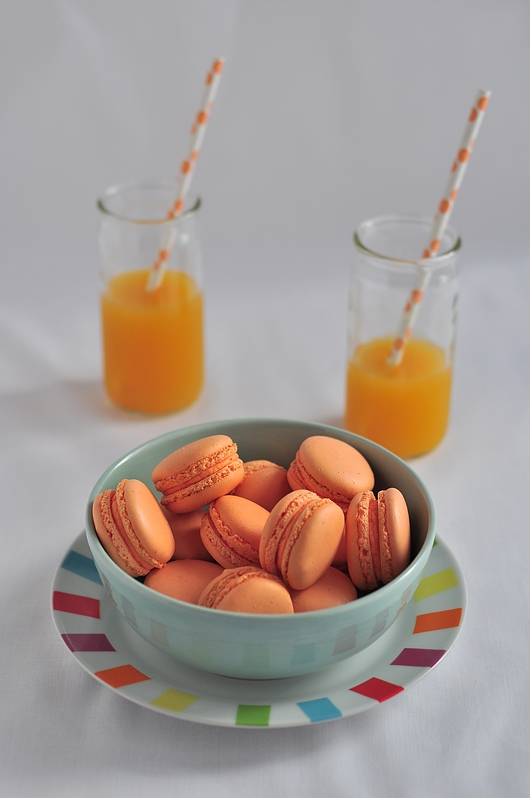 macarons orange bergamote