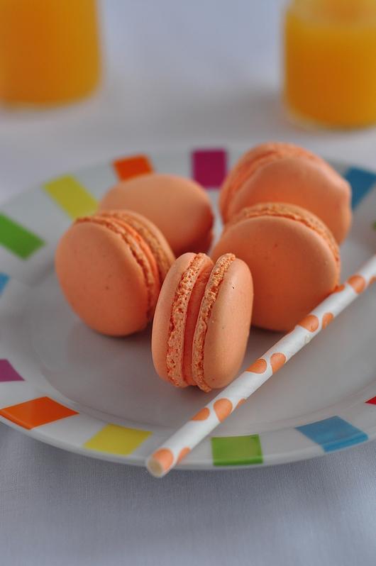macarons orange bergamote