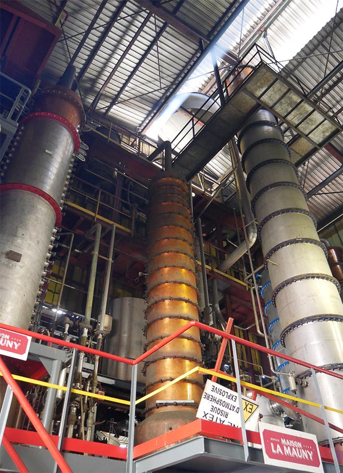 colonne distillation rhum la mauny
