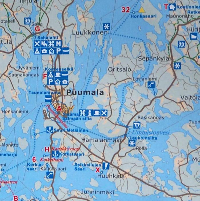 Finlande Puumala map