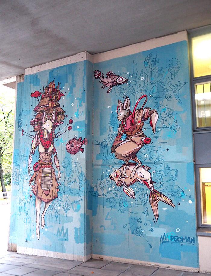 Pso Man street art Helsinki