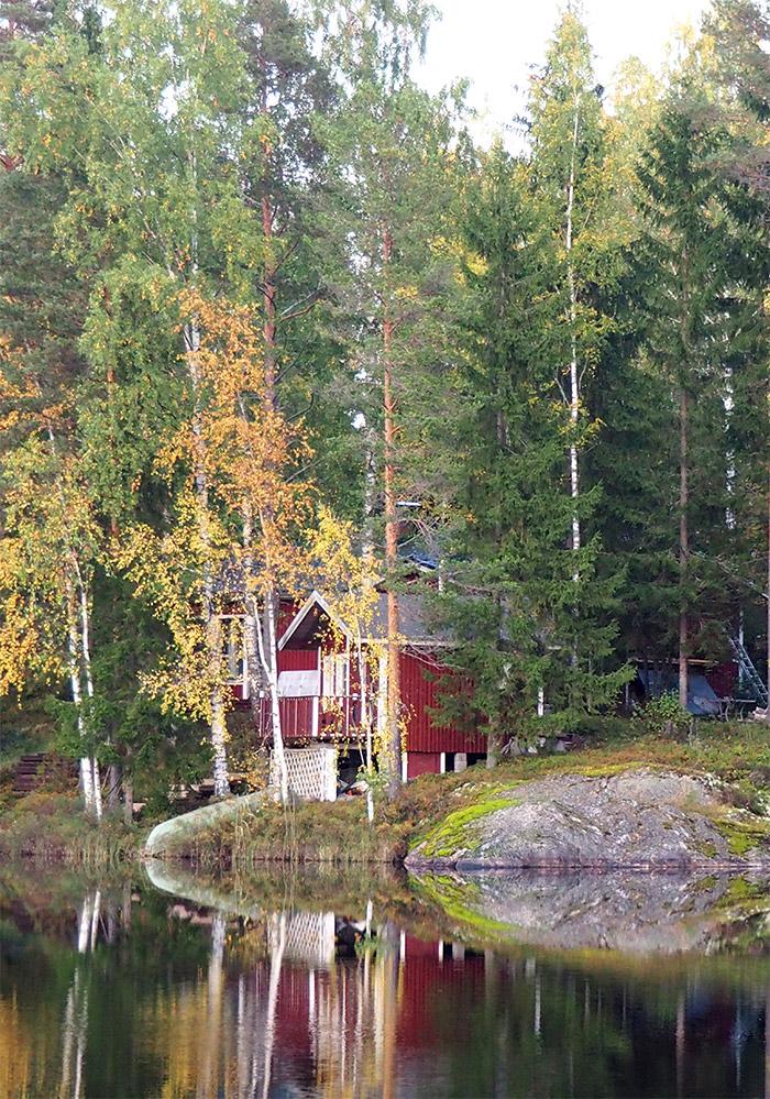 Finlande Puumala lake