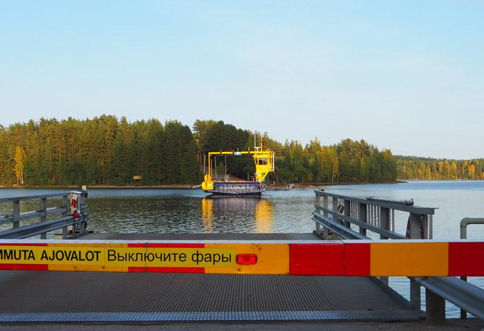 Ferry île puumala Finlande