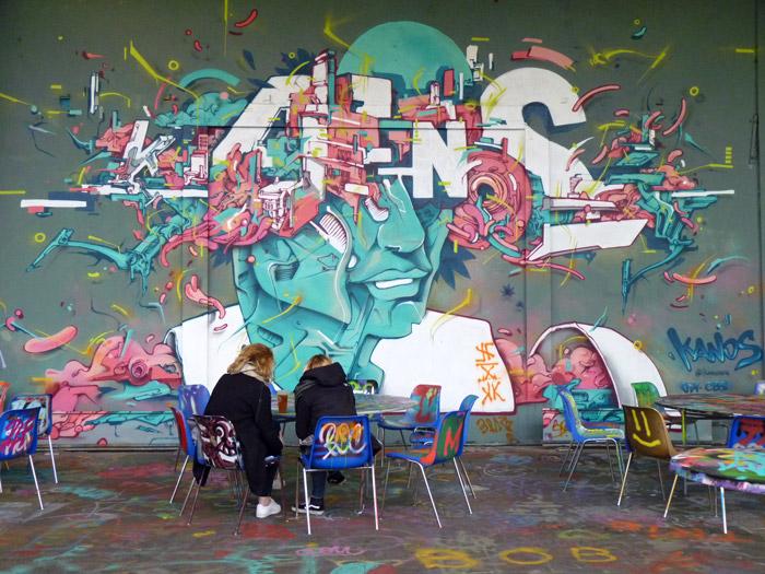 Kanos street art aerosol