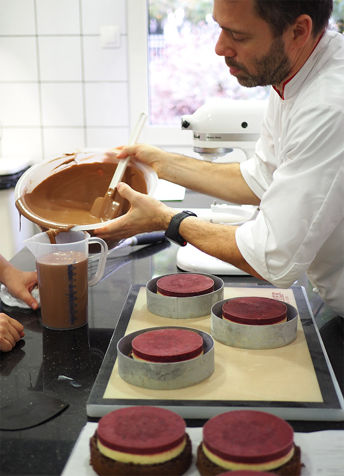 Valrhona entremets cours