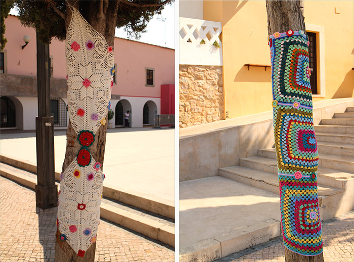 Algarve Loulé yarn bombing