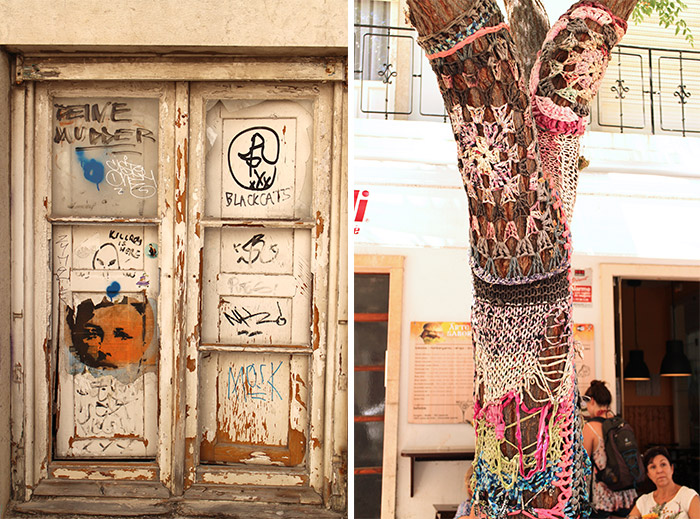 Algarve Lagos yarn bombing