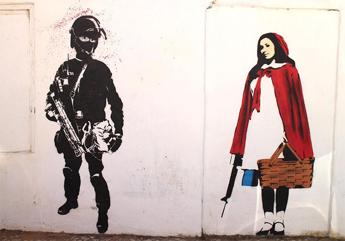 Lagos street art stencil