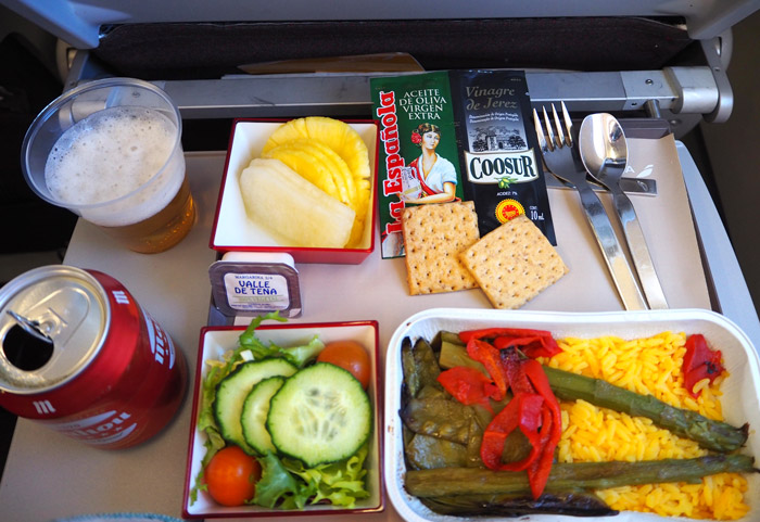 miami iberia dejeuner avion
