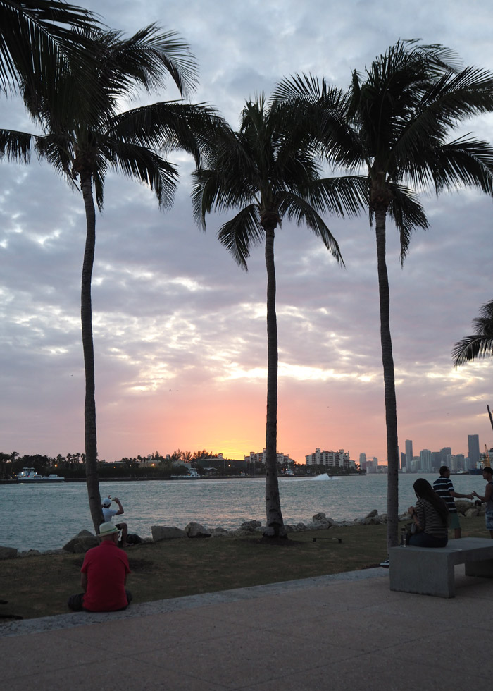 south pointe miami sunset