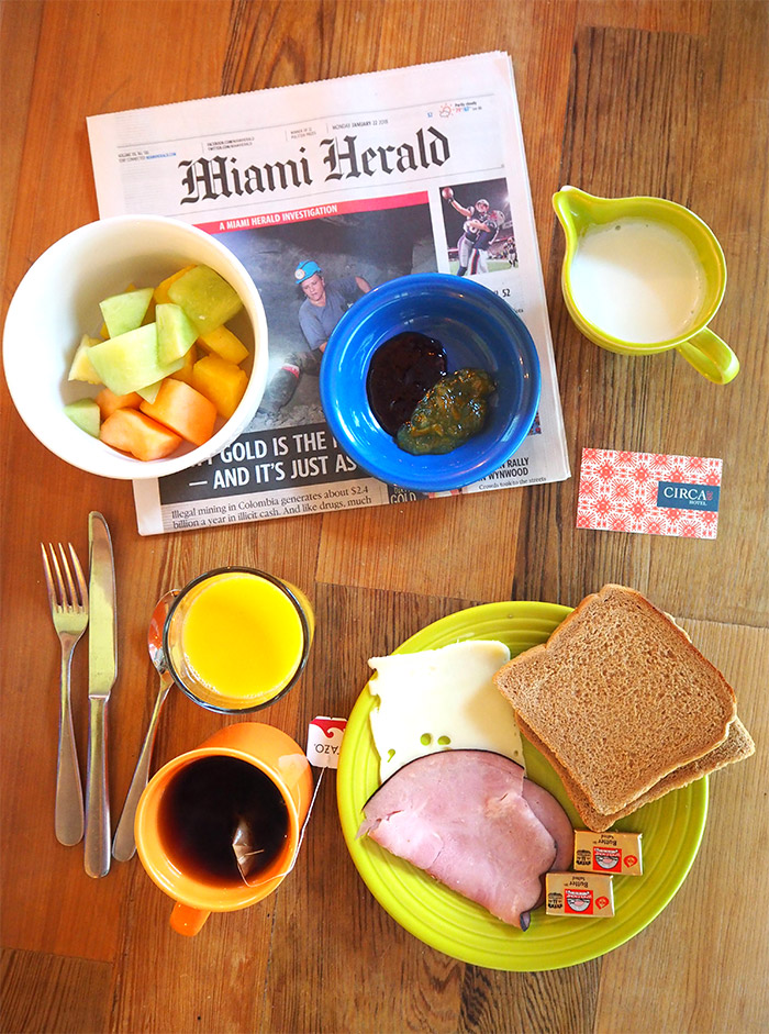 Circa39 Miami breakfast