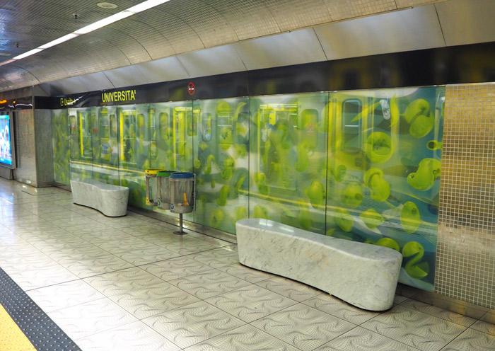 Naples metro Universita