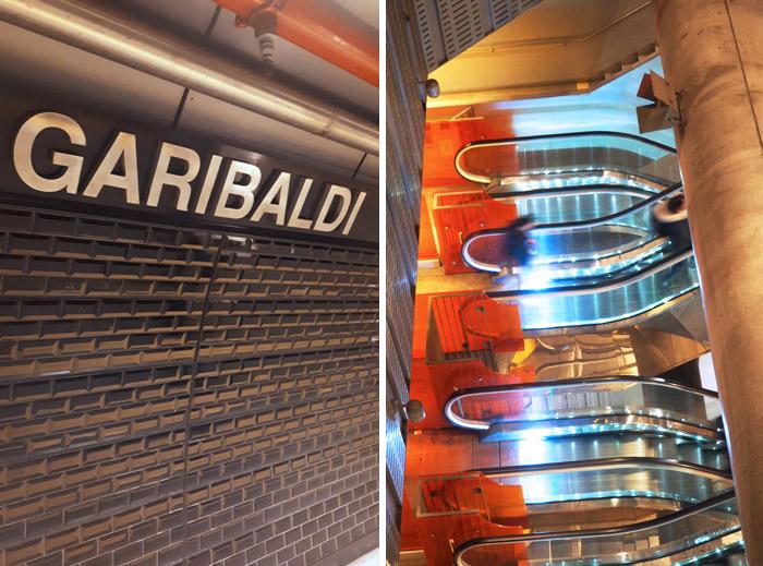 Naples Garibaldi metro art