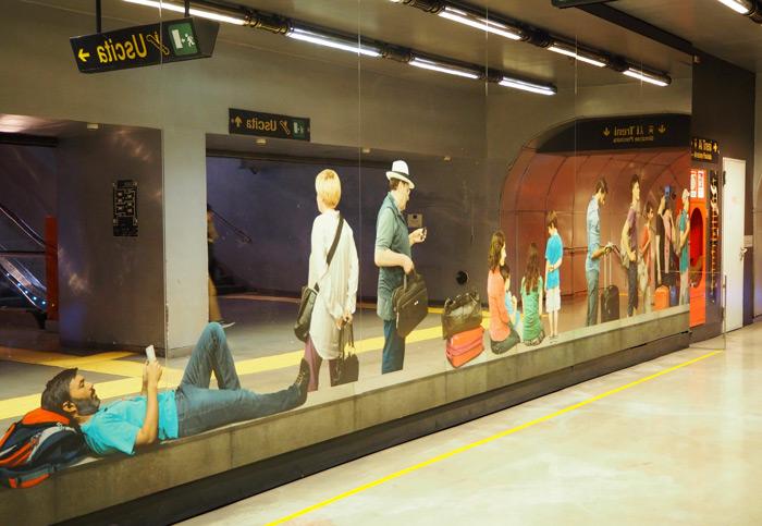 Naples metro Garibaldi Michelangelo Pistoletto
