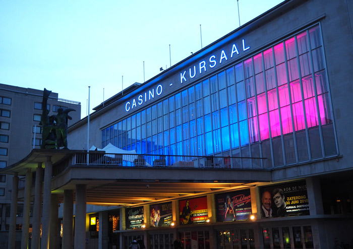 kursaal Ostende by night