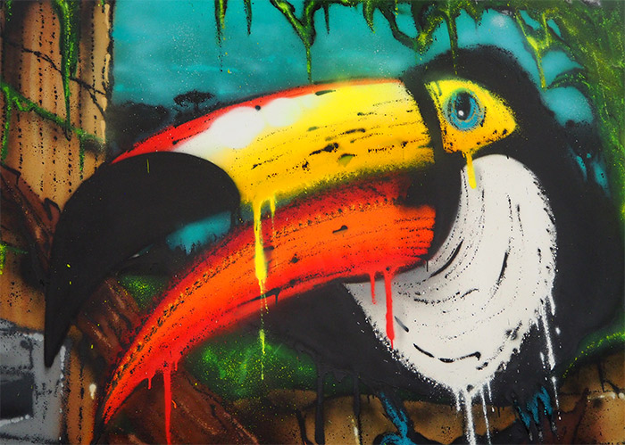 lyon zoo art show toucan koey84