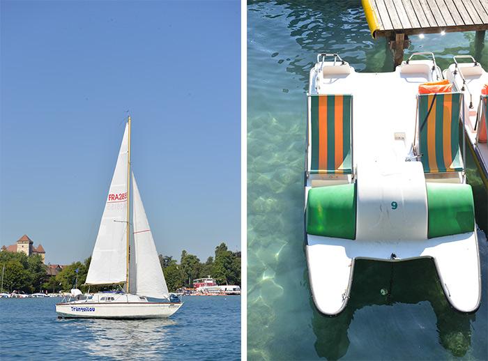 Annecy balade bateau pédalo