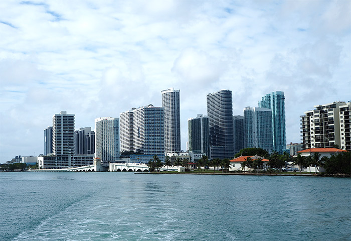 Miami skyline bay