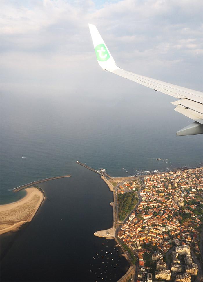 Transavia avion vue aerienne Porto